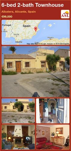 Townhouse for Sale in Albatera, Alicante, Spain with 6 bedrooms, 2 bathrooms - A Spanish Life Portugal, Power Shower, Alicante Spain, Open Fireplace, Granny Flat, Car Parking, Townhouse, Terrace, Entrance