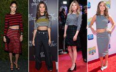Das ruas ao red carpet: veja como variar o look com camiseta listrada - Moda - CAPRICHO