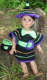 Bizzy Crochet: Fun & Funky Witch Costume-AG Dolls Pattern