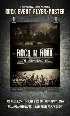 #Rock Event #Flyer / Poster - Events Flyers Download here: https://graphicriver.net/item/rock-event-flyer-poster/19714121?ref=alena994