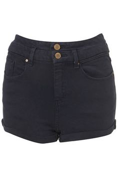 MOTO Indigo High Waisted Shorts, Topshop