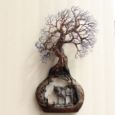 Wire Tree Of Life Grove SPiRiTs sculpture Quartz by CrowsFeathers, sold