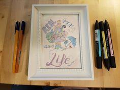 La vida real de la mamá/ Imprimible/ poster mamá / dibujo a mano by CuteLittleWorkshop on Etsy