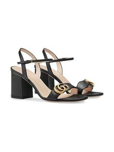 142e4c5487c Gucci Leather mid-heel sandal  730 - Shop SS19 Online - Fast Delivery