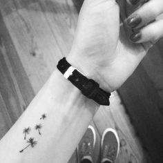 Dandelion seeds tattoo