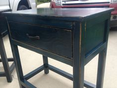 Matching end tables / Night stands distressed door TheCollectionG, $375.00