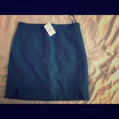 Jcrew green skirt Hunter green skirt. Looks great with tights and boots. J. Crew Skirts
