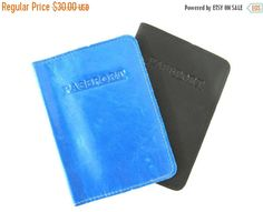 CLEARANCE SALE LEATHER Passport Holder  by AmielLeatherDesign