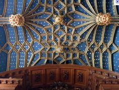 Ceiling detail in the Chapel Royal at Hampton Court