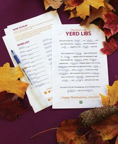 Yerd Libs – Gather your yearbook staff to share some laughs and give thanks for all that they do together.