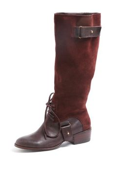 Burgundy riding boots