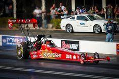 2007 Budweiser Top Fuel Dragster driven by Brandon Bernstein at Firebird Raceway.