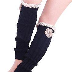 Women Socks  InkachTMWomen Crochet Knitted Lace Trim Boot Leg Warmer Socks  N25YFPD0N