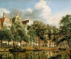 """The Herengracht In Amsterdam"" 1668 Jan van der Heyden (Dutch) Oil on wood. The Louvre. Paris, France"