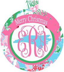 North Carolina Lilly Monogrammed Ornament