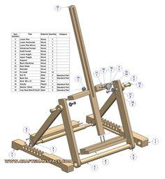 H frame folding tabletop easel plan - Parts list