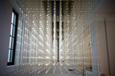 UK-based studio random international has developed the interactive light installation 'swarm study/iii' on special commission of london's victoria and albert museum and in association with the carpenters workshop gallery. Media Design, Design Art, Light Works, The V&a, Illusion Art, Light Installation, Victoria And Albert Museum, Light Art, Cool Lighting