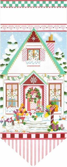 Melissa Shirley Designs | Hand Painted Needlepoint | from Sugar Pink Christmas collection