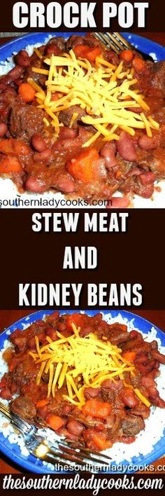 Crock pot stew meat and kidney beans is an easy recipe and good comfort food.   You could use just about any meat such as a roast or round steak.  I think chicken would even …