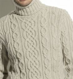 free knit pattern Irish sweater More Source by isapatou Sweater Knitting Patterns, Knitting Stitches, Knit Patterns, Free Knitting, Cable Knit Sweaters, Mode Style, Men Sweater, Turtlenecks, Jumpers