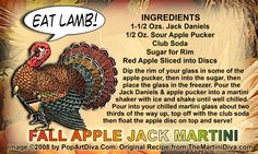 FALL APPLE JACK MARTINI #COCKTAIL RECIPE. Click the image for the Full Sized Recipe Card.
