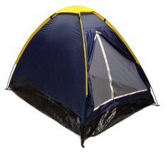Blue Dome Camping Tent 7x5  2 Person Two Man Navy Yellow Sealed Bottom NEW *** Check this awesome product by going to the link at the image.