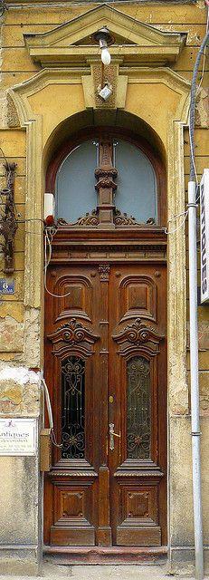 wonderful old door.Timisoara Romania - Old Door Grand Entrance, Entrance Doors, Doorway, Porte Cochere, Cool Doors, Unique Doors, Portal, Porches, Doors Galore