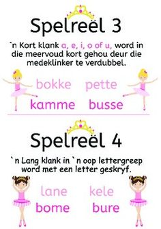 Spelreels vir prinses ballerinas, by My Afrikaanse Avontuur Education Quotes For Teachers, Teacher Quotes, Kids Education, Quotes Dream, Life Quotes Love, Teaching Posters, Teaching Aids, Robert Kiyosaki, Afrikaans Language
