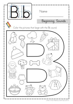 letter b cut and paste worksheets | letter