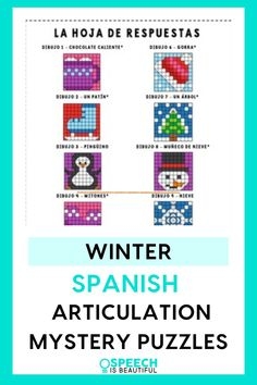 Bring some fun to your speech therapy sessions with this Winter themed fun articulation activity in Spanish! Perfect for bilingual students practicing articulation in Spanish. - Speech is Beautiful