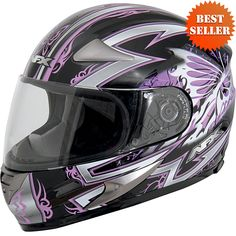 This AFX Passion Helmet have helmet liner and cheek pads are hypoallergenic and anti-microbial nylon that are washable and removable.