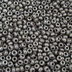25 Grams – Approx. 370 Seed Beads. 100 Grams – Approx. 1,400 Seed Beads. 500 Grams (1/2 Kilo) – Approx. 6,600 Seed Beads. US FLAT RATE SHIPPING. Gray Opaque Luster - 6/0 Rocailles. Approx. 10 Beads Per Inch - 4.1 mm. Ornela Preciosa Czech Glass Seed Beads. For other NEW beads: https://www.etsy.com/shop/TetraSeedBeads?ref=l2-shopheader-name&search_query=new  For beads on sale: https://www.etsy.com/shop/TetraSeedBeads?ref=sell...