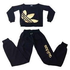 Free Shipping Adidas Trefoil Neon Tracksuit Sleepwear Sweatsuit Jogging Women Shirt pants: