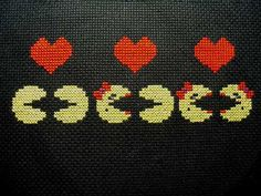Pacman couples cross stitch pattern. Free ($0).
