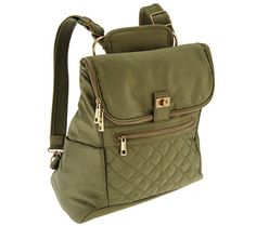 Travelon Foldover Quilted RFID Convertible Backpack