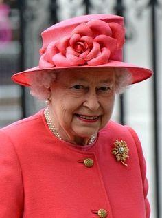 Queen Elizabeth, March 10, 2014 in Rachel Trevor Morgan | The Royal Hats Blog