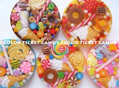 resin-made $CANDY COLOR TICKET