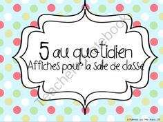 Browse over 460 educational resources created by Maternelle avec Mme Andrea in the official Teachers Pay Teachers store. Free French Lessons, Cafe Posters, Daily Five, Core French, Teacher Notebook, French Teacher, France, Learn French, Word Work