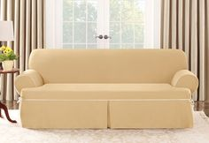 Photo of Cotton Canvas One Piece T-cushion Slipcovers
