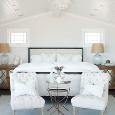 10 tips for amazing interiors - Becki Owens (like the mirror tables and side chairs, for an entryway, not bedroom)