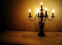 Full Size Chandelier Midnight Black Table Lamp