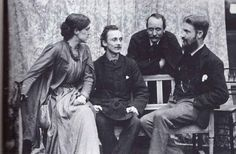 May Morris, her then fiancée Henry Halliday Sparling, Emery Walker and George Bernard Shaw.. In 1886, May fell in love with Henry Halliday Sparling (1860–1924), the secretary of the Socialist League. Despite her mother's concerns about her future son-in-law, they married 14 June 1890 at Fulham Register Office.The marriage broke down in 1894 over her affair with a former lover, the playwright George Bernard Shaw. The Sparlings were divorced in 1898 and May resumed her maiden name. Wikipedia