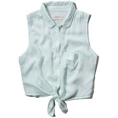 Abercrombie & Fitch Natalie Shirt ($9.60) ❤ liked on Polyvore featuring tops, crop top, shirts, mint floral, tie crop top, button up shirts, mint crop top, button down crop top and floral button down shirt