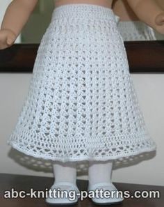 AG doll skirt - crochet