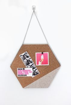 DIY: hexagon cork memo board