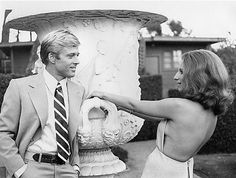 Robert Redford and Barbra Streisand in a promotional portrait for The Way We Were (1973). Description from pinterest.com. I searched for this on bing.com/images