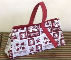 Mississippi State Bulldogs Over the Top Purse #Handmade #Totes