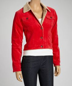 Look at this #zulilyfind! Red Corduroy Jacket - Women by be-girl #zulilyfinds