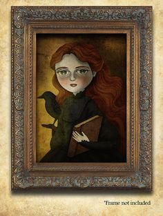 Fine Art Print  Portraits of Halloween  The Witch by TheWishForest, $15.00