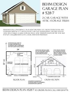 Beautiful 20 by 30 Garage Plans